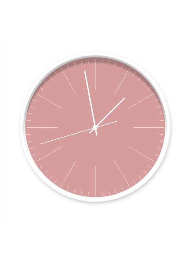 Clock old pink with stripes