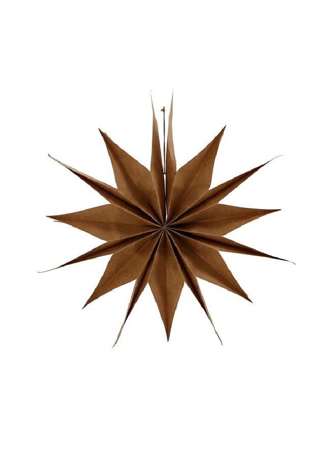 Papieren Ster Capella natural 50cm