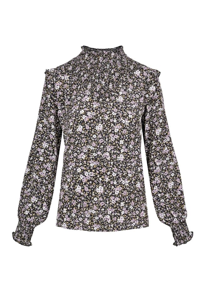 Blouse smified with floral print