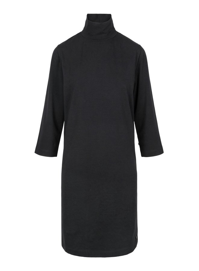 Dress with col black