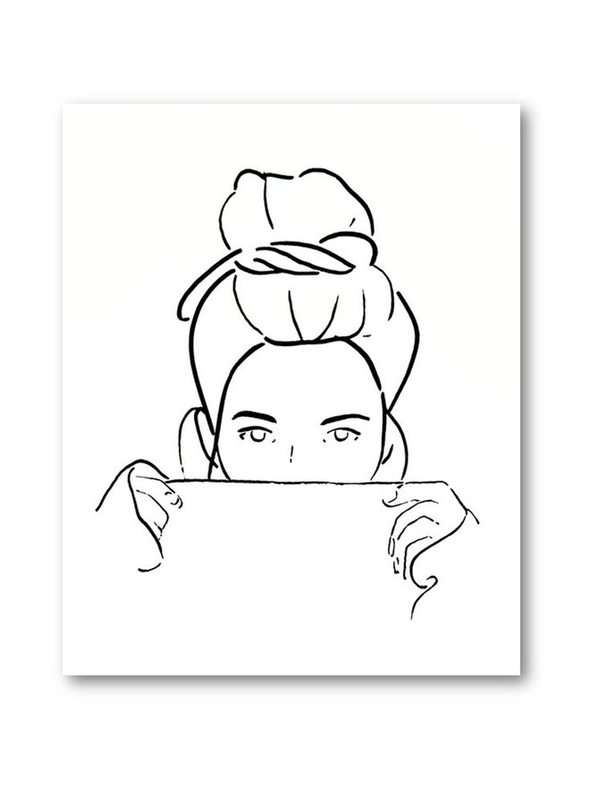 Poster Model drawing Bun white