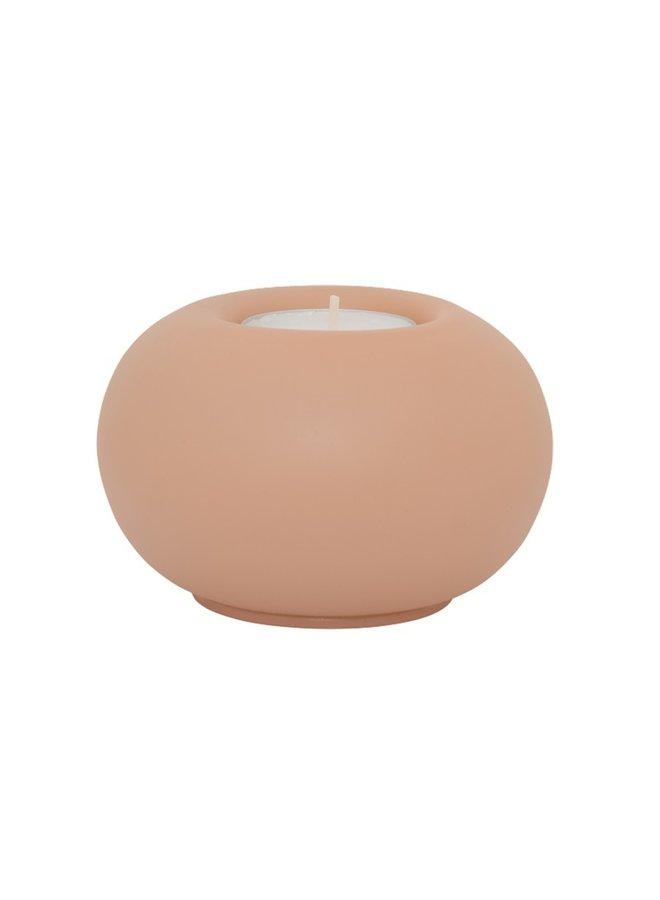 Tealight holder blass Bubble, cameo brown