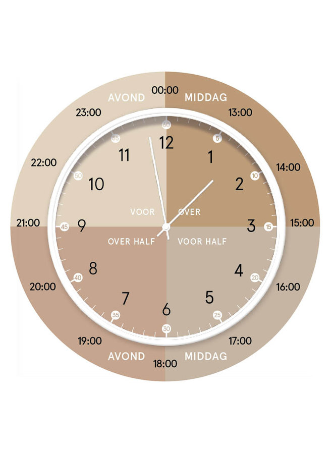 Children's learning clock | natural