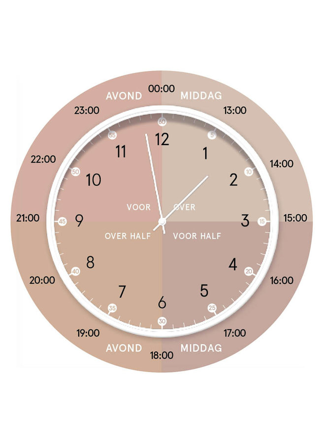 Children's learning clock | soft pink