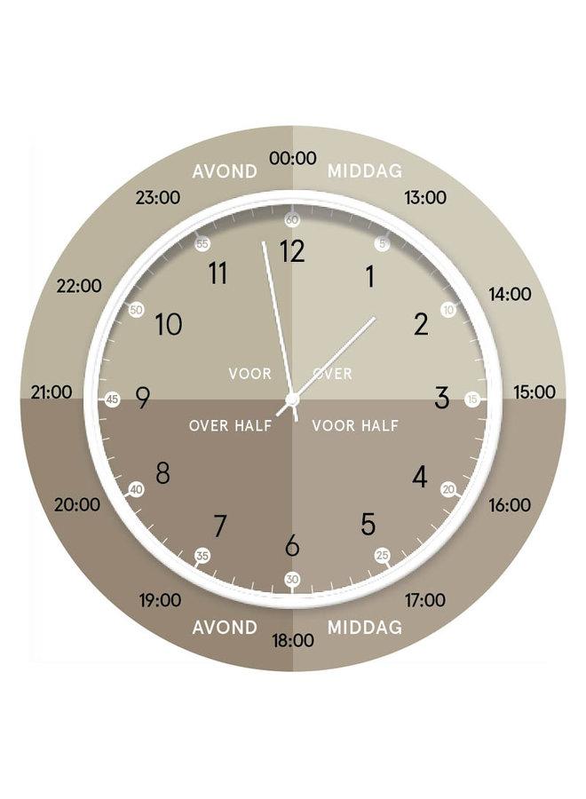 Children's learning clock | light green