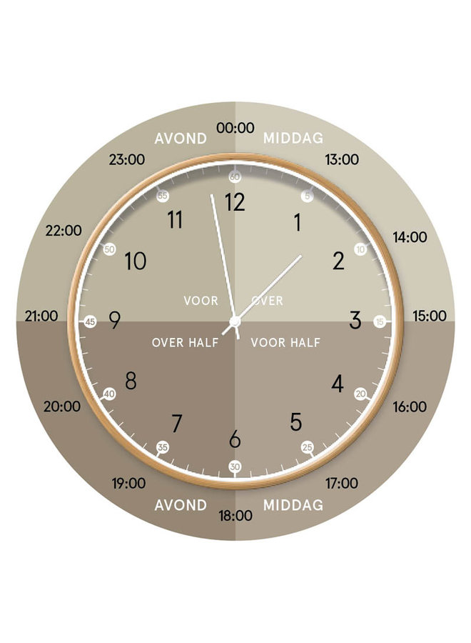 Learning clock | light green
