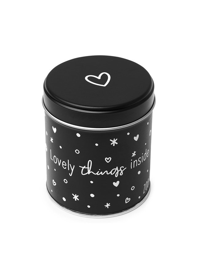 Gift can with candle Geniet