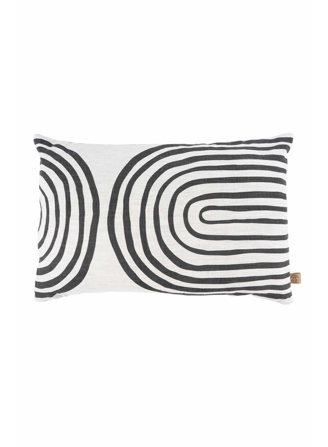 Cushion with archers pepper and salt/anthracite grey