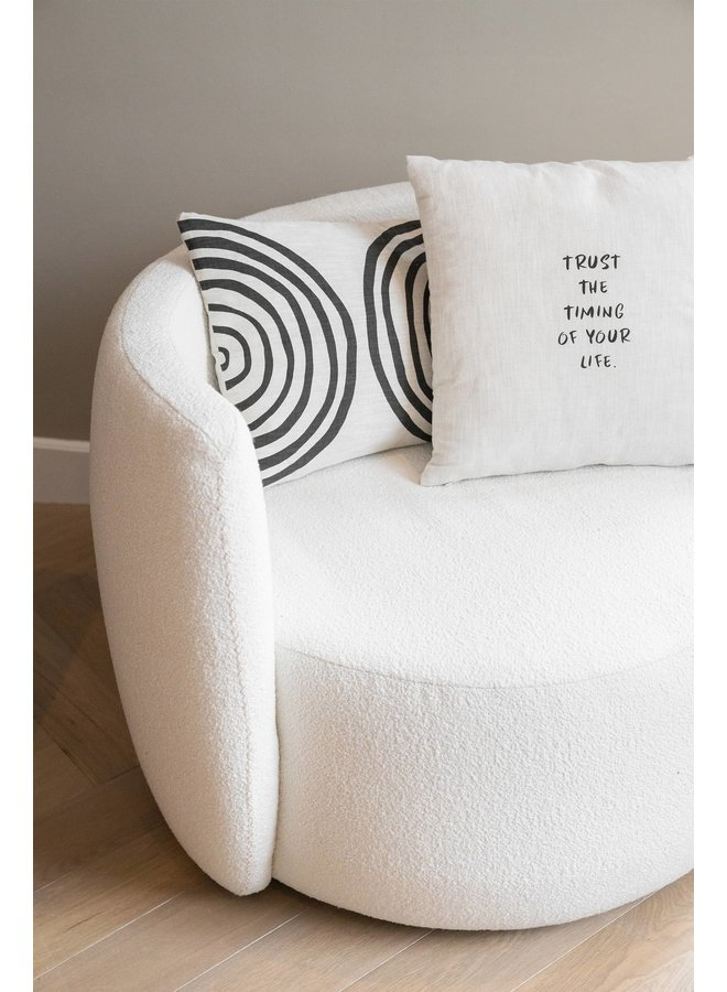 Cushion with text Trust the timing of your life