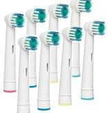 8 Opzetborstels geschikt voor elektrische tandenborstels van Oral-B® (geen verzendkosten)