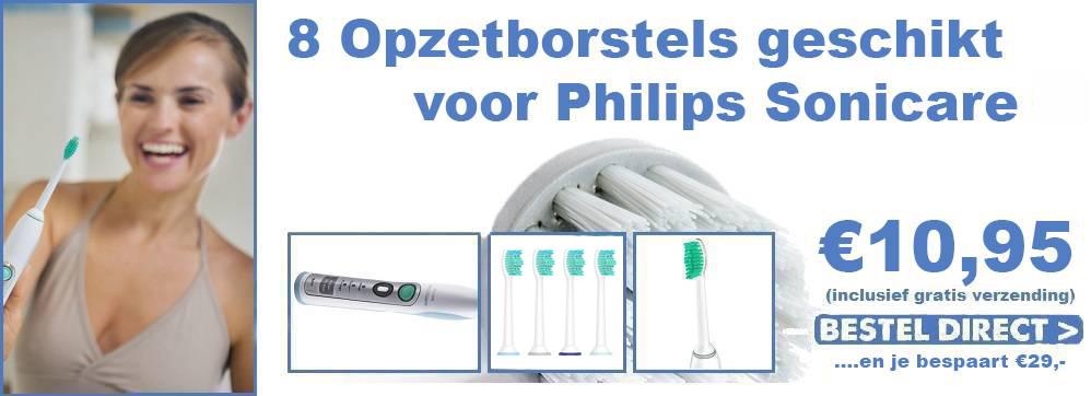 8 opzetborstels geschikt voor Philips Sonicare voor 10,95