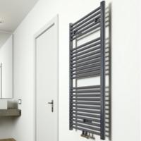 Designradiator Eco 6 Antraciet Midden Aansluiting B600 Diverse Hoogtes