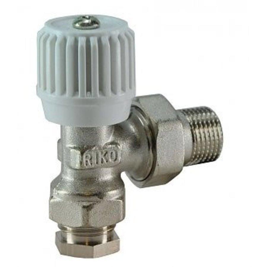 Radiatorkraan 15mm 1/2 haaks inclusief adapter-1
