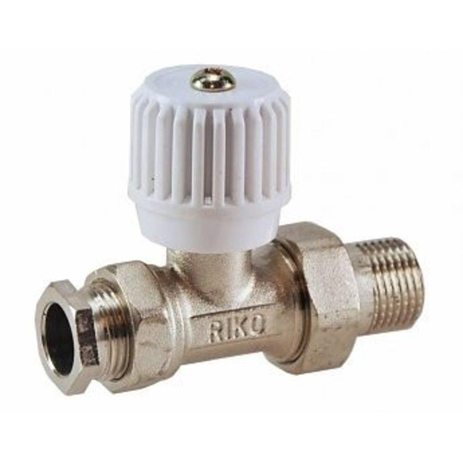 Radiatorkraan 15mm 1/2 recht inclusief adapter-1