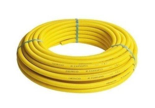 Gas Flexibele Meerlagenbuis Met Gele Mantel 50m