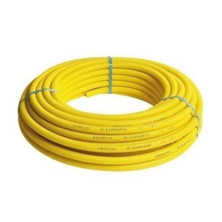 Gas Flexibele Meerlagenbuis Met Gele Mantel 50m-1