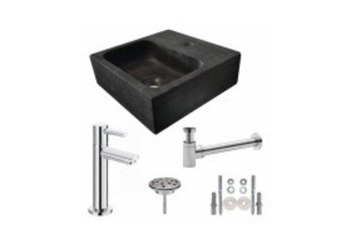 One Pack Hardstenen fontein vierkant 30x30x10 compleet