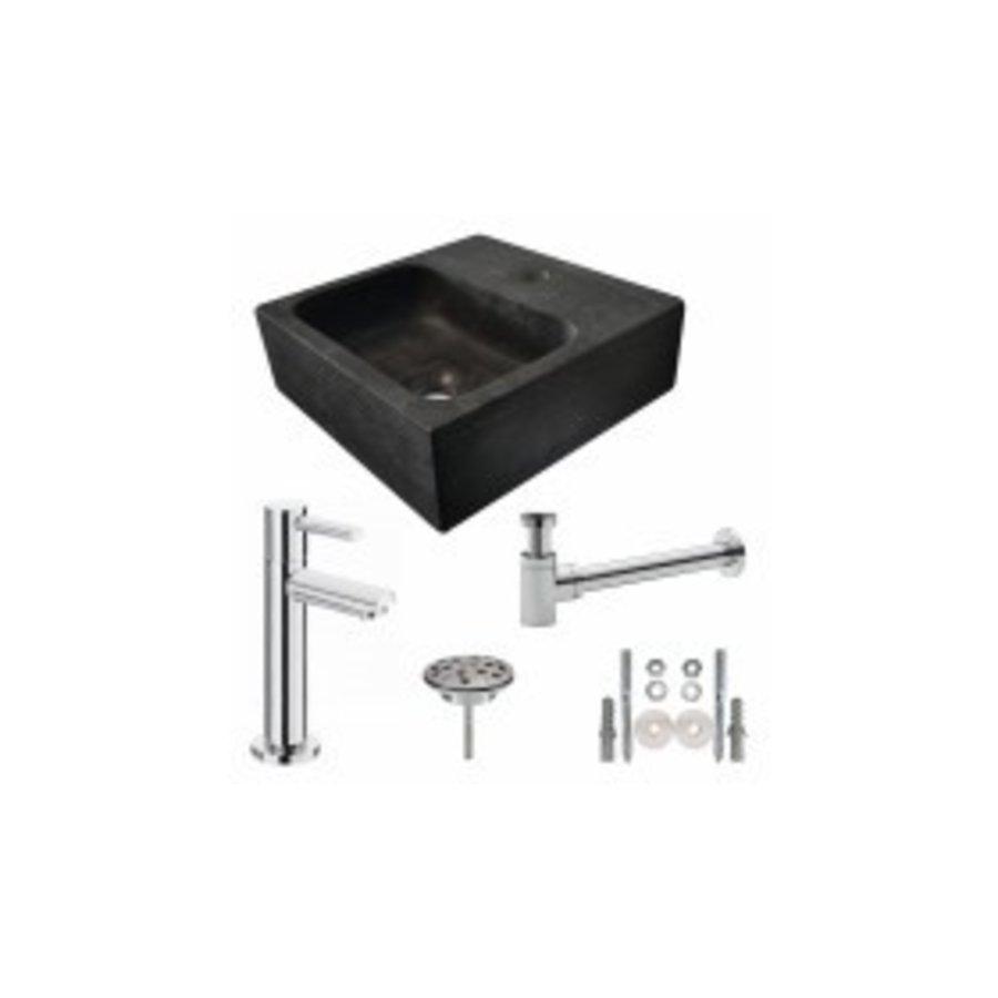 One Pack Hardstenen fontein vierkant 30x30x10 compleet-1