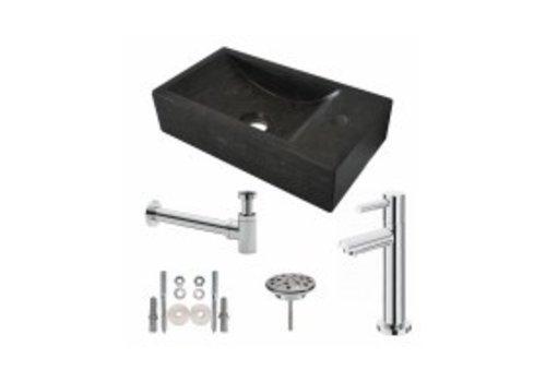One Pack Hardstenen fontein 40x22x10 rechts compleet