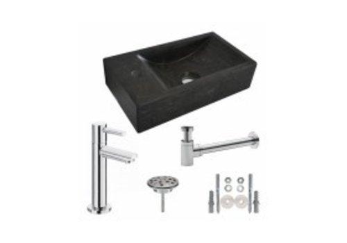 One Pack Hardstenen fontein 40x22x10 links compleet