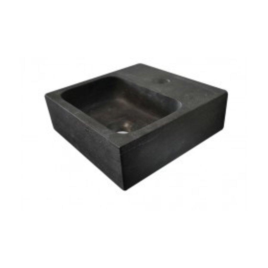 Hardstenen fontein vierkant 30x30x10-1