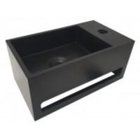 Julia fontein Solid Surface 35 x 20 x 16 cm mat zwart rechts