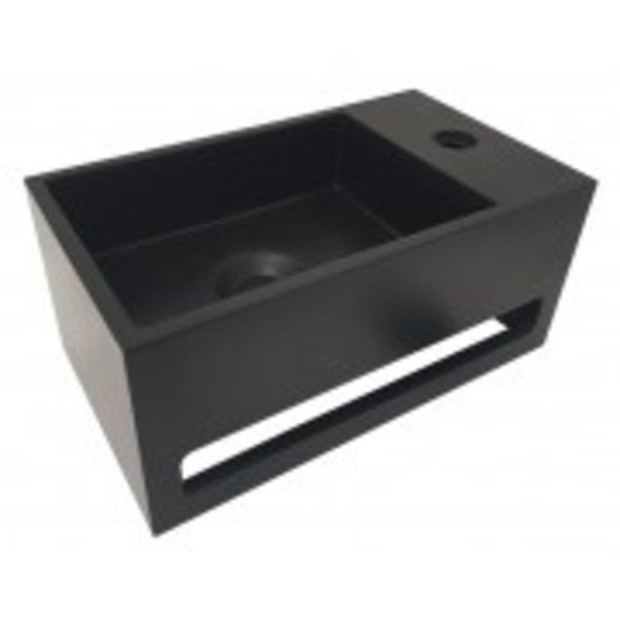 Julia fontein Solid Surface 35 x 20 x 16 cm mat zwart rechts-1