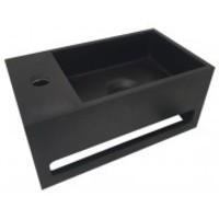 Julia fontein Solid Surface 35 x 20 x 16 cm mat zwart links