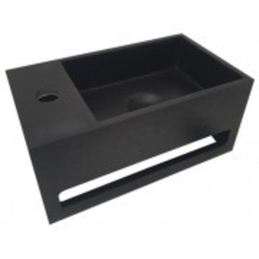 Julia fontein Solid Surface 35 x 20 x 16 cm mat zwart links-1