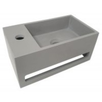 Julia fontein Solid Surface 35 x 20 x 16 cm betonlook links