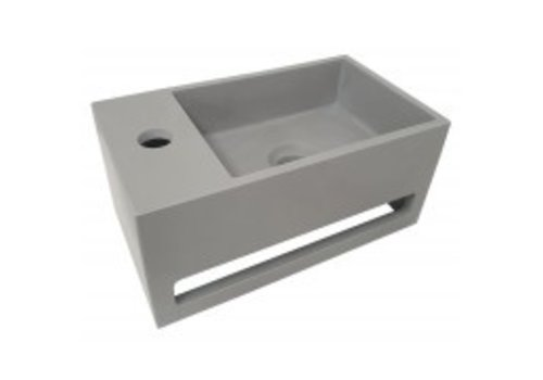 Julia fontein Solid Surface 35 x 20 x 16 cm betonlook links