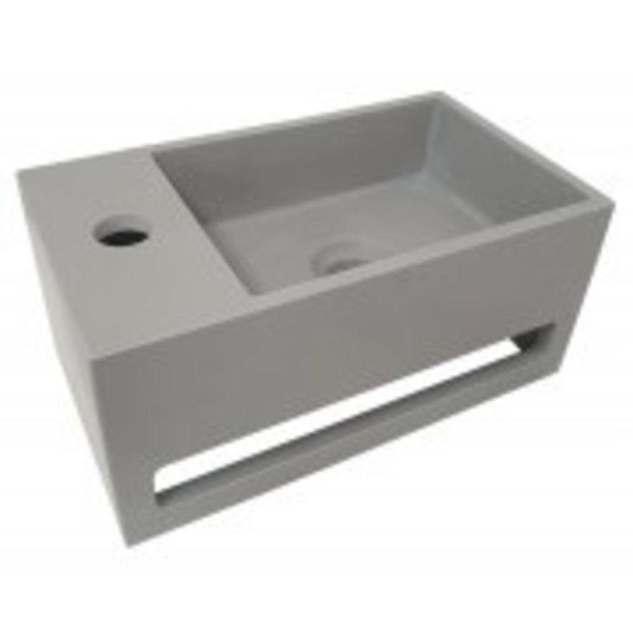 Julia fontein Solid Surface 35 x 20 x 16 cm betonlook links-1