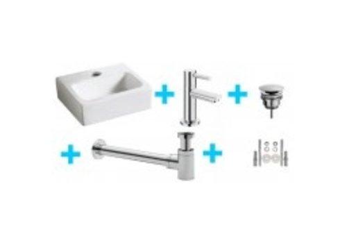 one-pack Leto fontein + Amador toiletkraan chroom