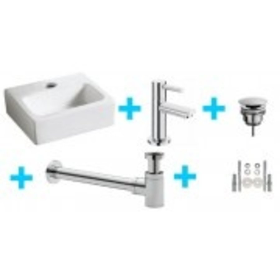 one-pack Leto fontein + Amador toiletkraan chroom-1