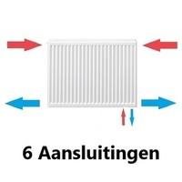 Stelrad Paneelradiatoren T22 met 6 Aansluitingen H600 diverse breedte