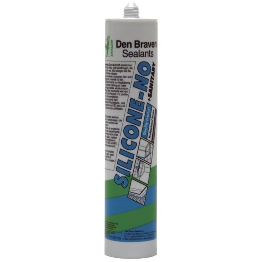 Zwaluw Siliconenkit NO+sanitary 310 ml.-1