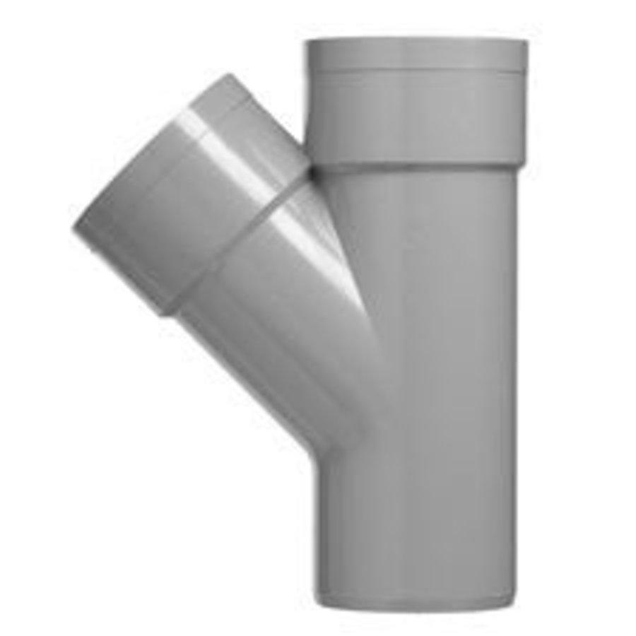 PVC Lijm T-stuk M/M/S 45°-1