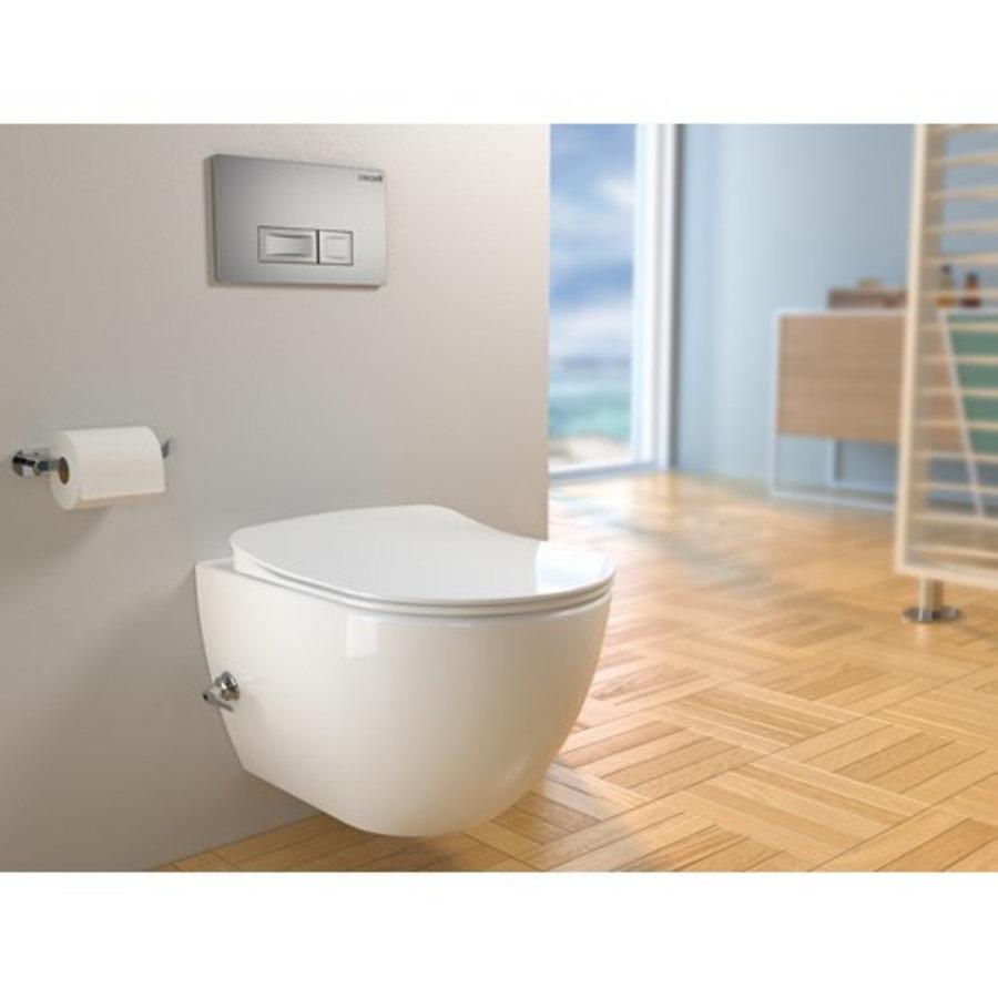 ALONI DESIGN OPHANG WC MET RVS SPROEIERAL55800 (BIDET) RIMOFF MET EEN GEÏNTEGREERDE WARM / KOUD WATER KRAAN-1