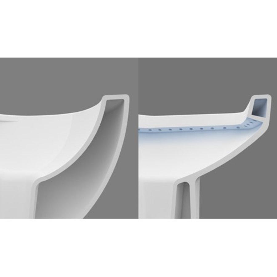 ALONI DESIGN OPHANG WC MET RVS SPROEIERAL55800 (BIDET) RIMOFF MET EEN GEÏNTEGREERDE WARM / KOUD WATER KRAAN-3