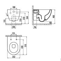 thumb-ALONI DESIGN OPHANG WC MET RVS SPROEIERAL55800 (BIDET) RIMOFF MET EEN GEÏNTEGREERDE WARM / KOUD WATER KRAAN-4