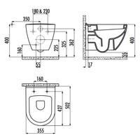 thumb-TP325.406 CREAVIT DESIGN OPHANG WC ZWART-2