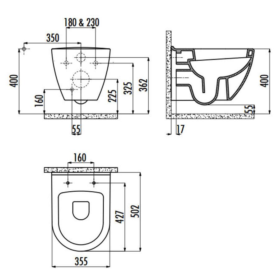 TP325.406 CREAVIT DESIGN OPHANG WC ZWART-2