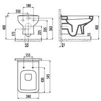 thumb-SP320.001 CREAVIT DESIGN OPHANG WC ZONDER SPROEIER (BIDET)-4