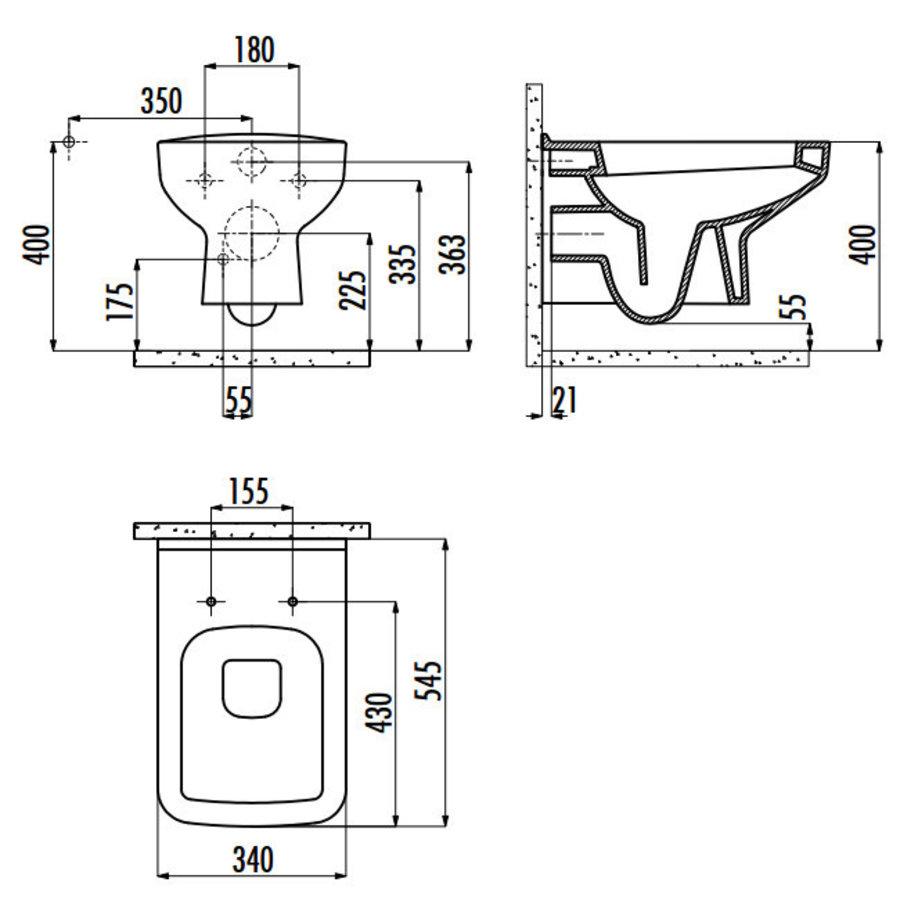SP320.001 CREAVIT DESIGN OPHANG WC ZONDER SPROEIER (BIDET)-4