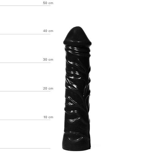 All Black Realistische XXL Dildo 33 cm - Zwart