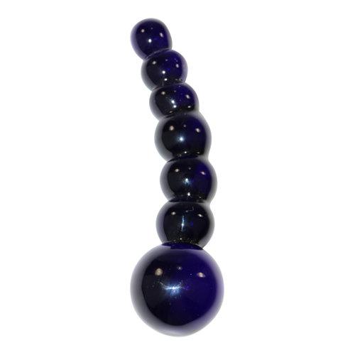 Icicles Bolvormige glazen dildo Icicles No 66 zwart