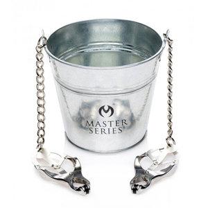Master Series Slave Bucket Met Tepel-/Schaamlipklemmen