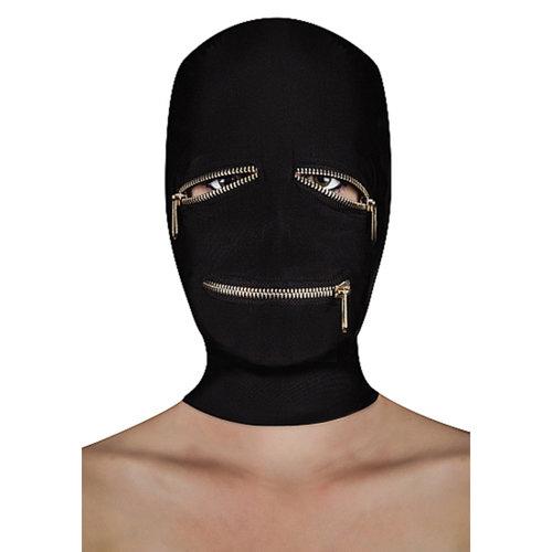 Ouch BDSM masker met ritsjes over de ogen en mond