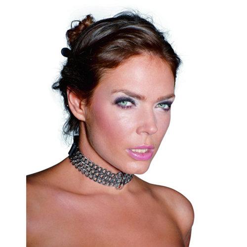 Zado Leren halsband met kettingen
