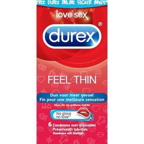 Durex Durex Emoji Feel Thin - 6 stuks